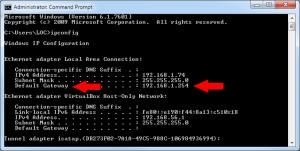 1a router IPconfig
