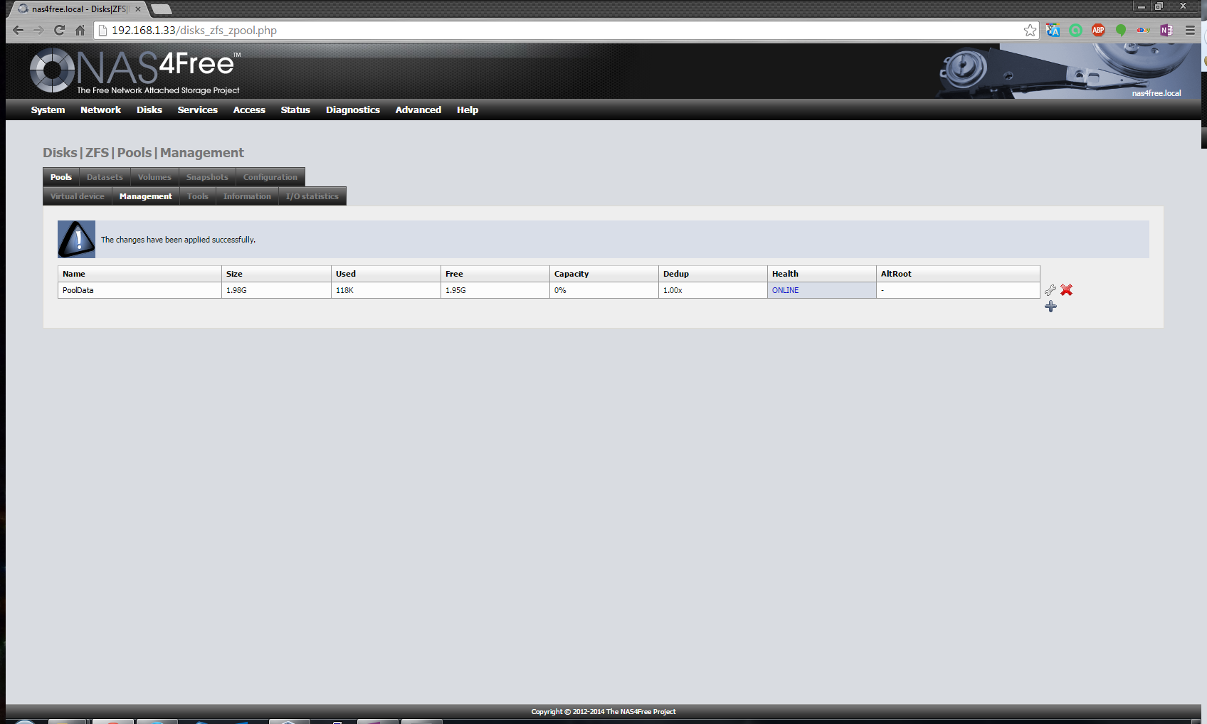 Zfs Storage Pool Device Nas4free Dandk Organizer