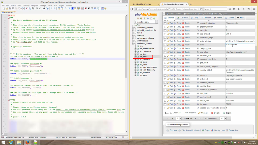3c edit database url